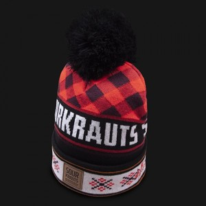 Sourkrauts Bobblehat red black