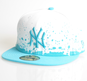 New Era Cap 59-Fifty NY Splatter white/turquoise