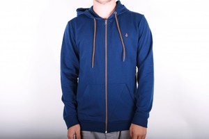 Volcom Icon Slim Zip Fleece navy