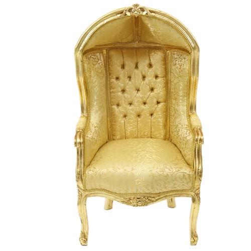 Casa Padrino Barock Kinder Thron Sessel Gold Muster Gold Ballon Sessel Barock Mobel