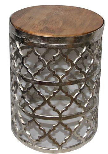 Casa Padrino Designer Beistelltisch Silber 35 X H 44 Cm Moderner Runder Tisch
