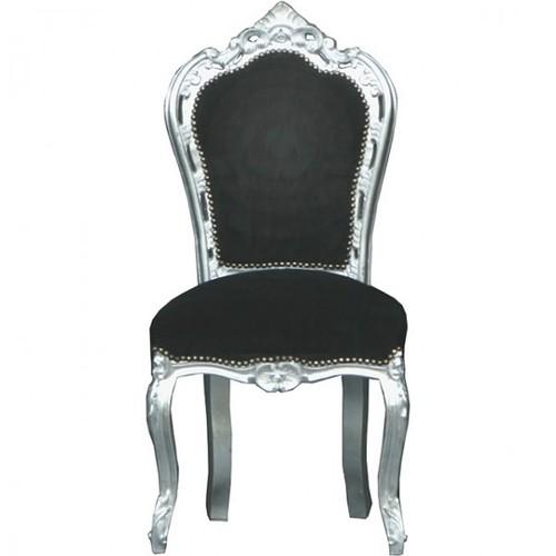 Casa Padrino Barock Esszimmer Stuhl Schwarz Silber Mobel