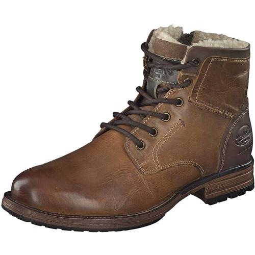 huge discount f9ac2 41f84 DOCKERS by Gerli 43DY103 Herren Combat Boots Stiefelette Stiefel Leder Used  Look