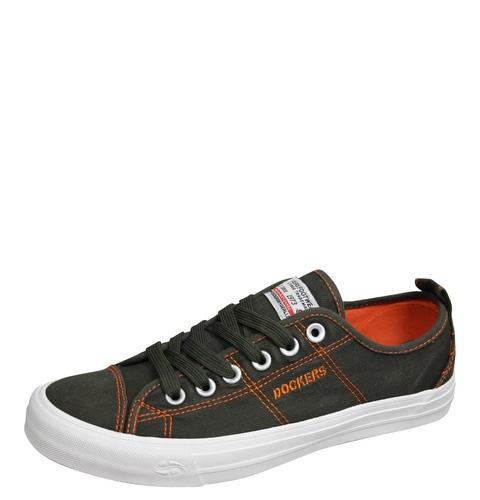 DOCKERS by Gerli 44VK001 790850 Herren Sneaker Washed Canvas Schuhe Khaki