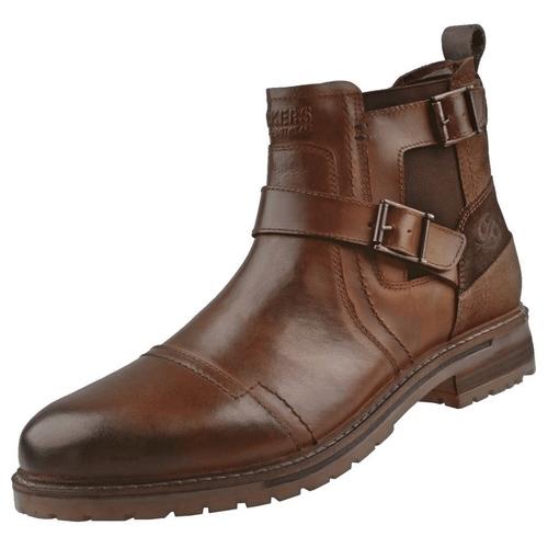DOCKERS by Gerli 45LN004 Herren Schnallen Boots Stiefelette Stiefel Leder Cognac