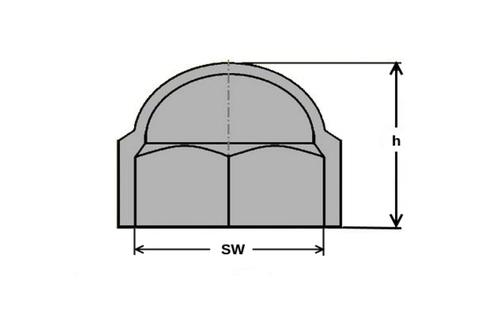 Abdeckkappe 50 Stück Sechskant Schutzkappe Schlüsselweite 16 mm Farbe grau