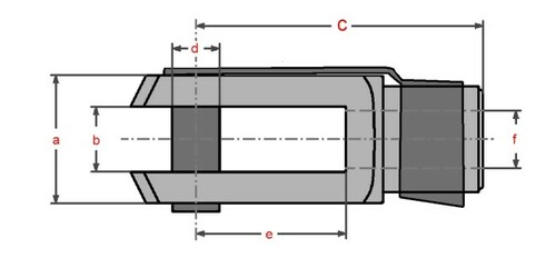 Gabelgelenk 8x16 DIN71752 4 x Gabelkopf Sicherungsbolzen // ES-Bolzen M8