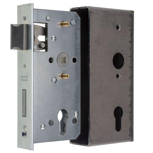 Ersatz-Metalltorschloss mit Stulpe 33x166 mm f/ür 40mm Schlossk/ästen Dornma/ß 40