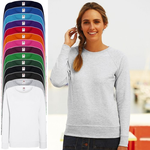 Fruit of the Loom: Damen Fit Lightweight Raglan Sweat, Pullover * 62-146-0 * NEU
