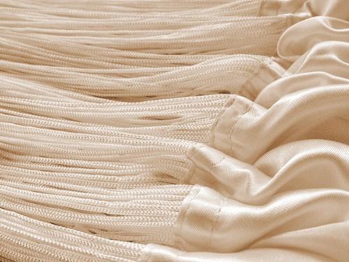 Fadenvorhang Vorhang Fadenstore Fadengardine 150 cm x 500 cm caramel KAIKOON