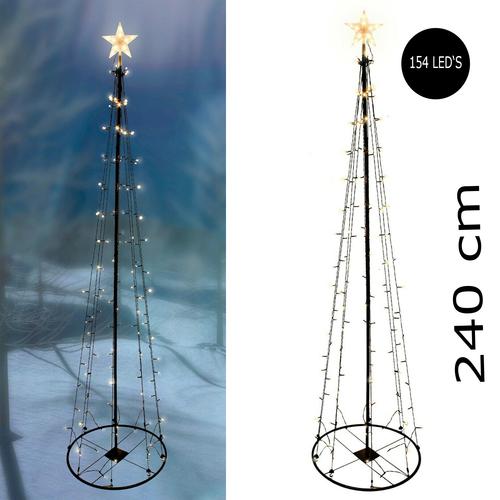 Garten Weihnachtsbaum Deko Baum 120 cm 70 warmweiße LED