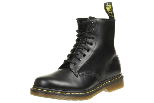 DrMartens Black Smooth Boots Stiefel Schwarz 1460 9IYWHE2D