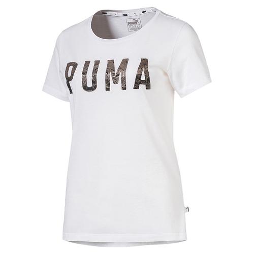 PUMA Athletic Tee Damen T-shirt Sportswear 851857 07 grau
