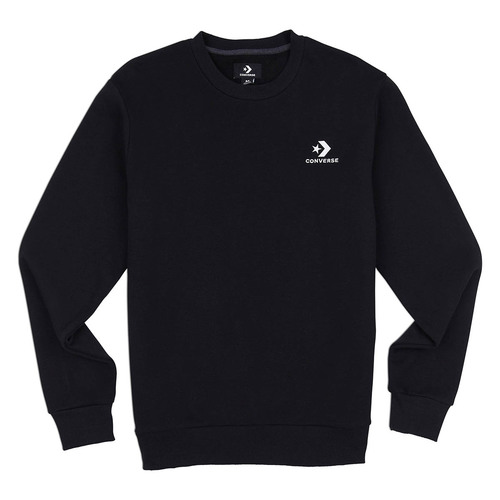 Converse Star Chevron EMB Crew Herren Sweatshirt schwarz
