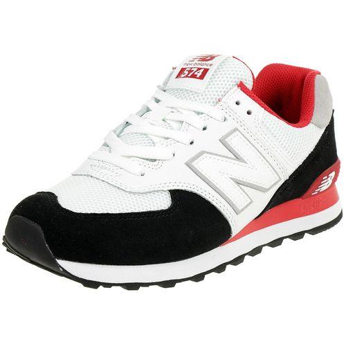 New Balance ML 574 NSB Classic Sneaker Herren Schuhe Schwarz Rot