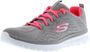 SKECHERS 12615/GYCL Graceful-Get Connected Damen Sneaker grau/pink