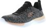 SKECHERS 12991/BKCL Dynamight-Break-Through Damen Sneaker schwarz/koralle
