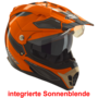 Rocc 771 - orange / schwarz - Crosshelm / Endurohelm