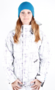Volcom Snow Jacket Queens painted plaid white *Ladies*