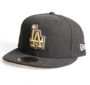 New Era Cap 59-Fifty LA Dodgers Metfold black/gold